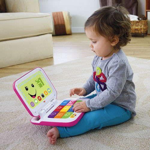 FISHER PRICE - LAUGH AND LEARN SMART STAGES LAPTOP PINK (IN GREEK) (CGH61)
