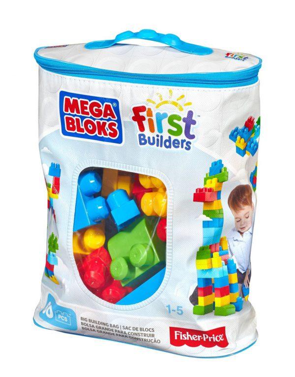 MEGA BLOKS FIRST BUILDERS BIG BUILDING BAG 60pcs BLUE (DCH55)